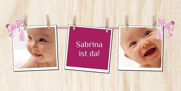 Ansicht 3 - Babykarte Schleife