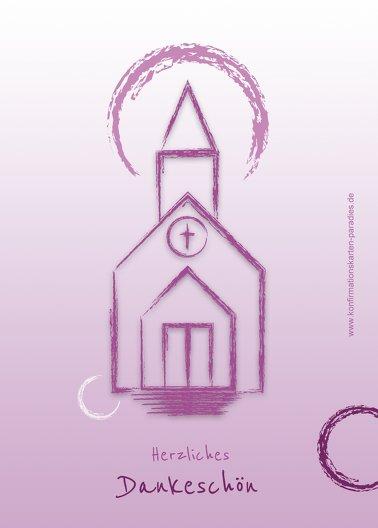 Ansicht 2 - Konfirmation Dankeskarte Kirche