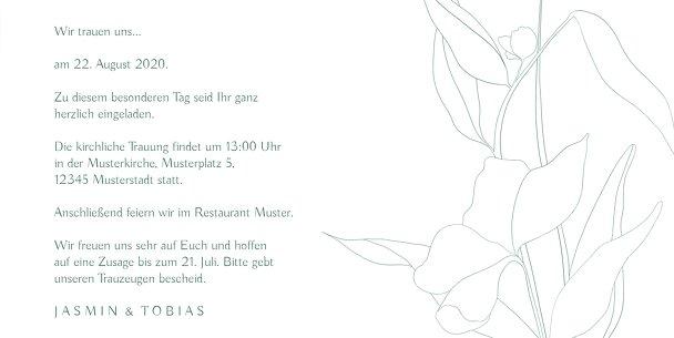 Ansicht 5 - Hochzeitseinladungen Zahrte Blume