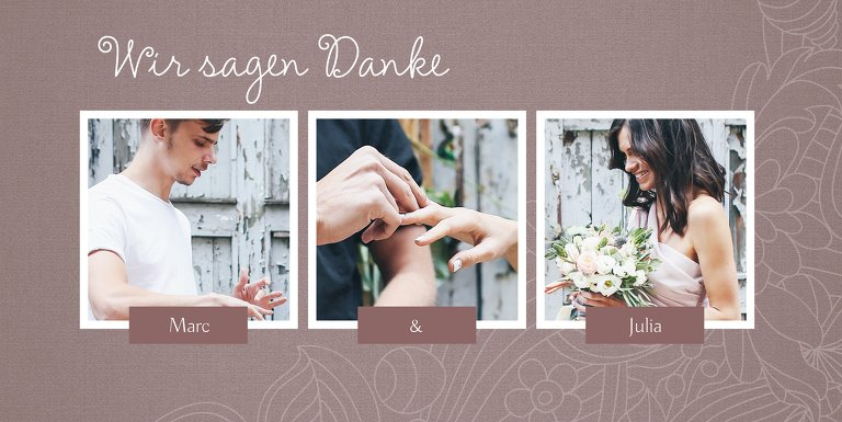 Ansicht 3 - Hochzeit Dankeskarte Vintage Flower