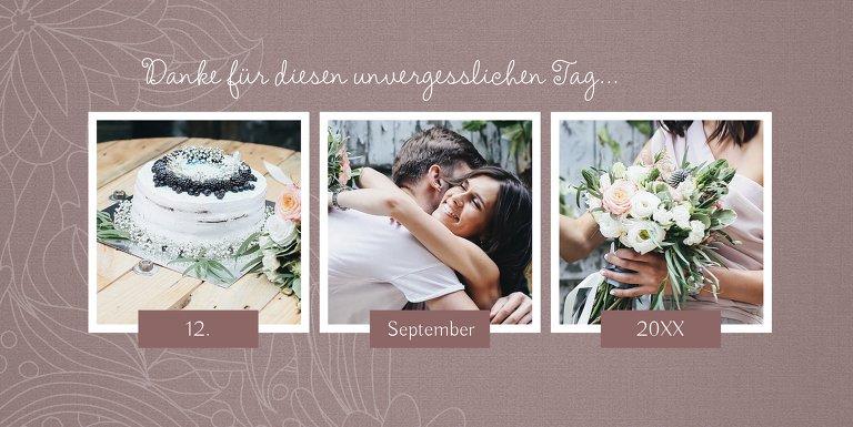 Ansicht 4 - Hochzeit Dankeskarte Vintage Flower