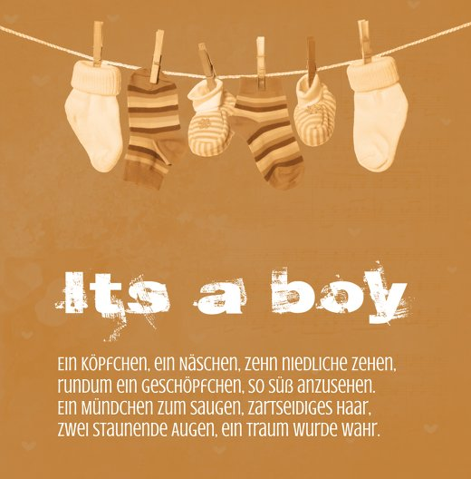 Ansicht 3 - Babykarte It's a boy