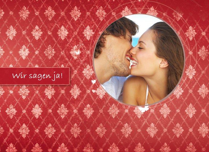 Ansicht 3 - Hochzeit Einladung 3 Liebesbündnis