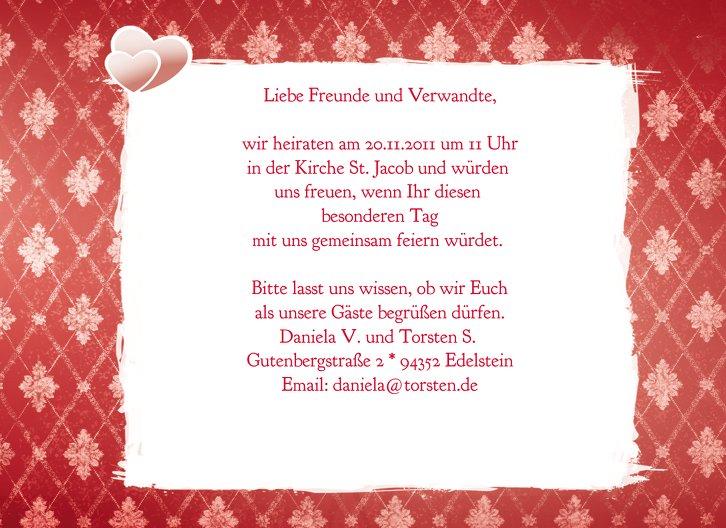 Ansicht 5 - Hochzeit Einladung 3 Liebesbündnis