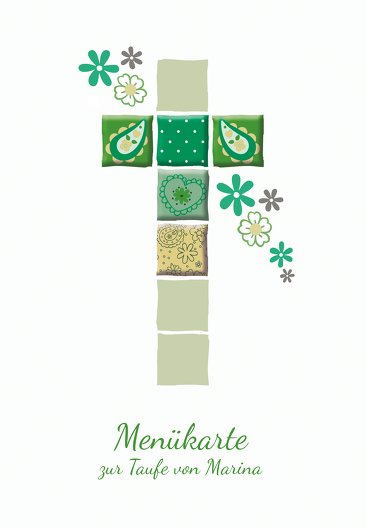 Ansicht 3 - Menükarte Florales Kreuz