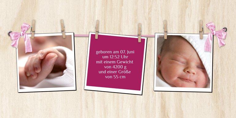 Ansicht 5 - Baby Dankeskarte Schleife