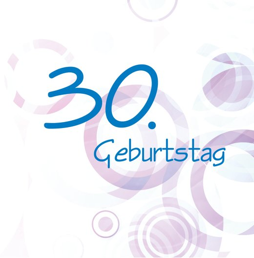 Ansicht 2 - Einladungskarte colorful circles 30 Foto