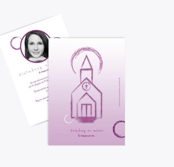 Kommunionskarte Kirche