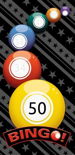 Ansicht 3 - Einladung zum Geburtstag Bingo 50 Foto