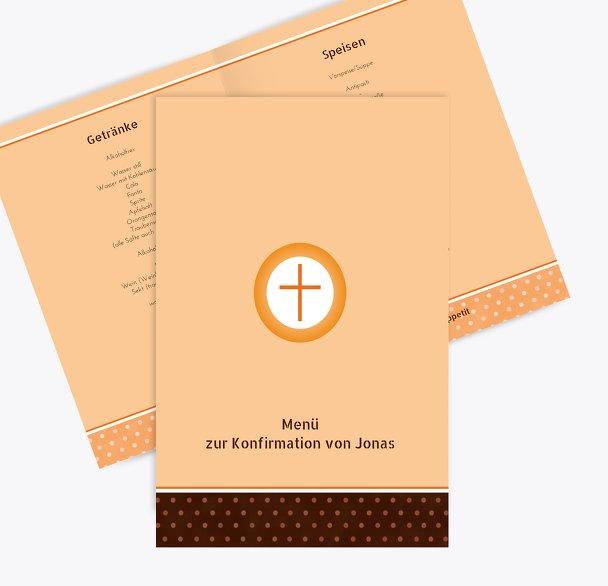 Menükarte Konfirmation Kreuzhostie