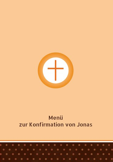Ansicht 3 - Menükarte Konfirmation Kreuzhostie