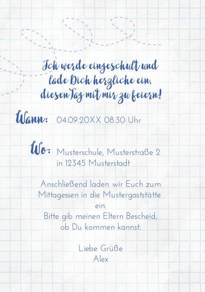 Ansicht 5 - Einladung Einschulung Zickzacklinien Junge/Mädel