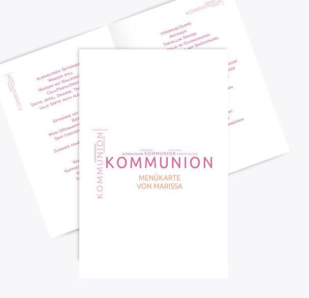 Kommunion Menükarte Script