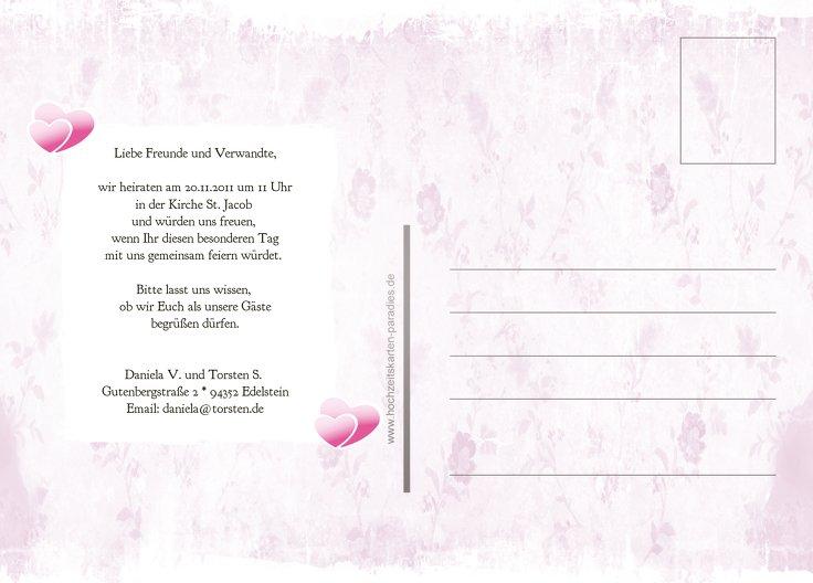 Ansicht 3 - Save-the-Date Din romantische Liebe