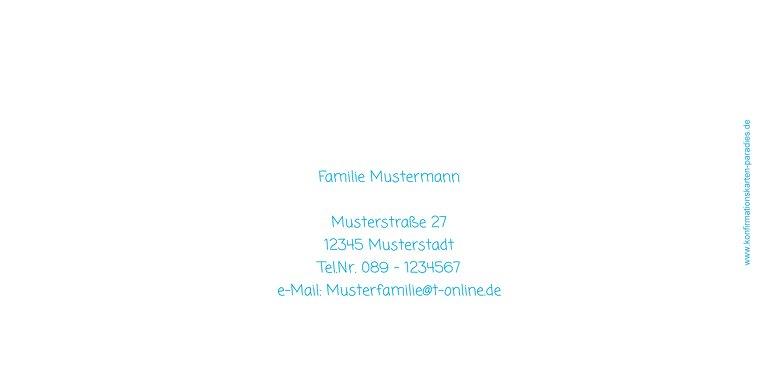 Ansicht 2 - Einladungskarte zur Konfirmation White