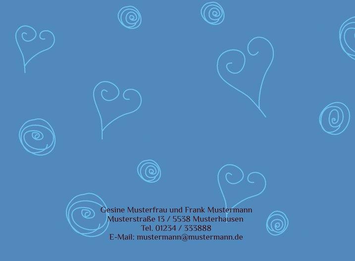 Ansicht 3 - Hochzeit Einladung curly hearts