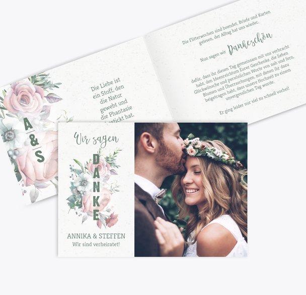 Hochzeit Dankeskarte Verträumt