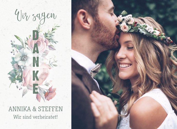 Ansicht 3 - Hochzeit Dankeskarte Verträumt