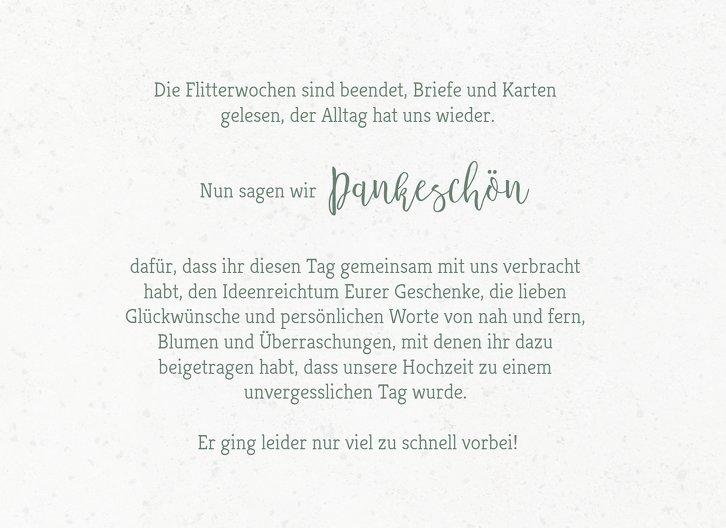 Ansicht 5 - Hochzeit Dankeskarte Verträumt