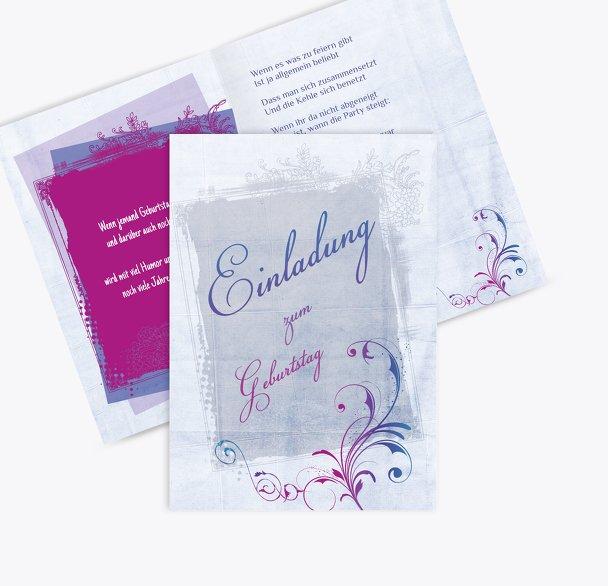 Einladungskarten zum Geburtstag floral