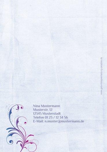 Ansicht 2 - Einladungskarten zum Geburtstag floral