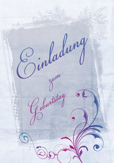 Ansicht 3 - Einladungskarten zum Geburtstag floral