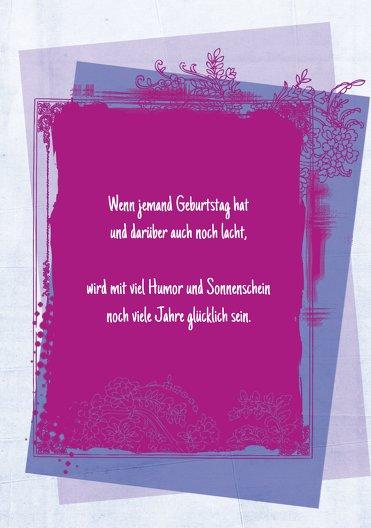 Ansicht 4 - Einladungskarten zum Geburtstag floral