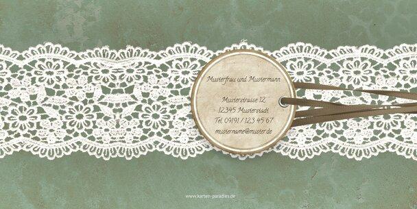 Ansicht 2 - Hochzeit Einladung Vintage Lace