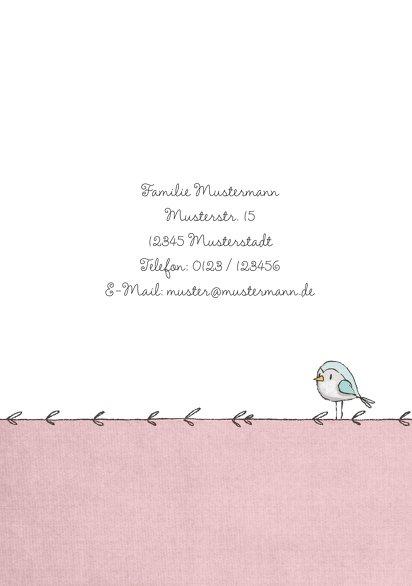 Ansicht 2 - Einladung Einschulung Mäuschen und Vogel