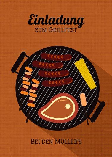 Ansicht 2 - Einladung Sommerfest Grillsaison