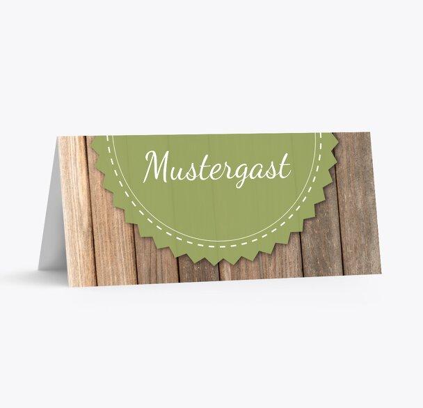 Hochzeit Tischkarte Vintage Holz