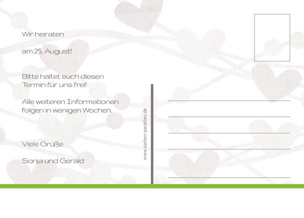 Ansicht 3 - Hochzeit Save the Date wilde Herzen