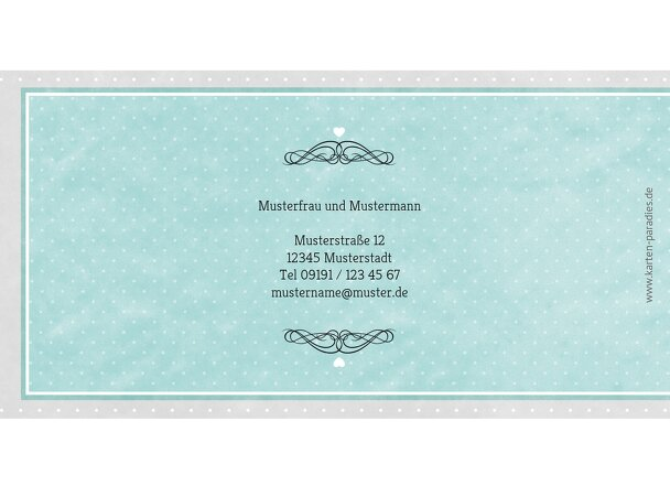 Ansicht 2 - Hochzeit Dankeskarte Kutsche
