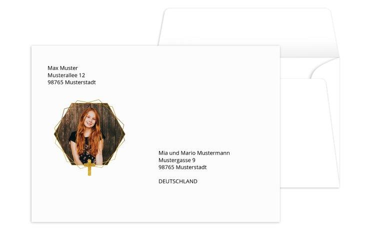 Kommunion Umschlag Goldrausch
