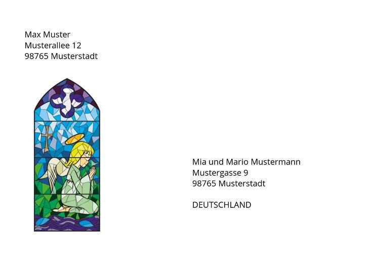 Ansicht 2 - Taufe Umschlag Kirchenfenster