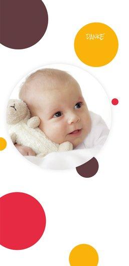 Ansicht 3 - Baby Dankeskarte Kleckse