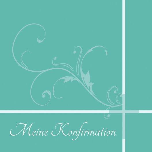 Ansicht 4 - Einladungskarte zur Konfirmation floral