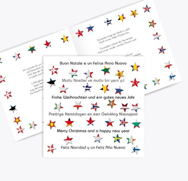 Grußkarte Flaggensterne