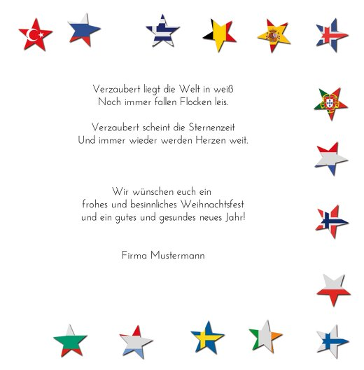 Ansicht 5 - Grußkarte Flaggensterne