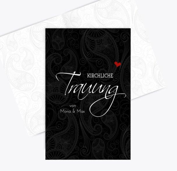 Hochzeit Kirchenheft Umschlag Traumhochzeit