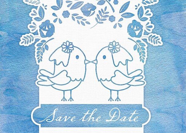 Ansicht 2 - Save-the-Date Vogelpaar - Frauen