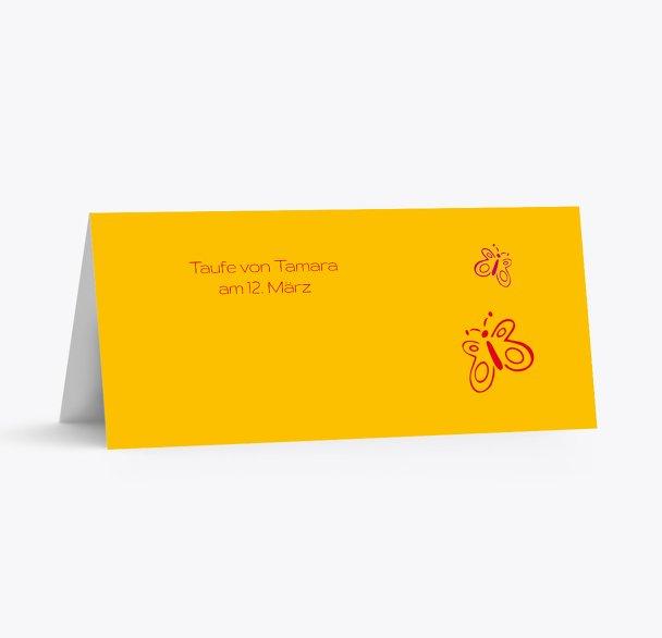 Taufe Tischkarte Butterfly