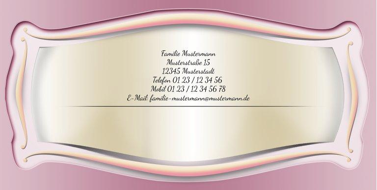 Ansicht 3 - Taufkarte Streifbogen