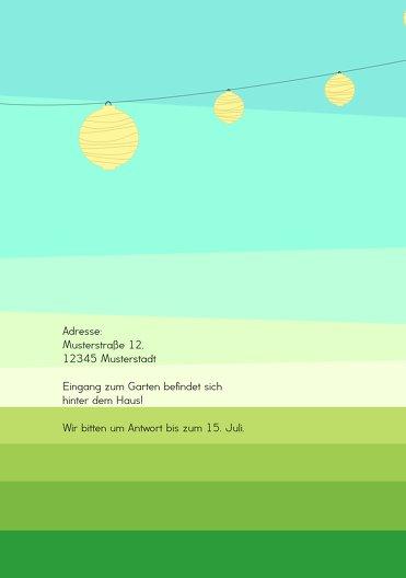 Ansicht 2 - Einladung Sommerfest flächiger Garten