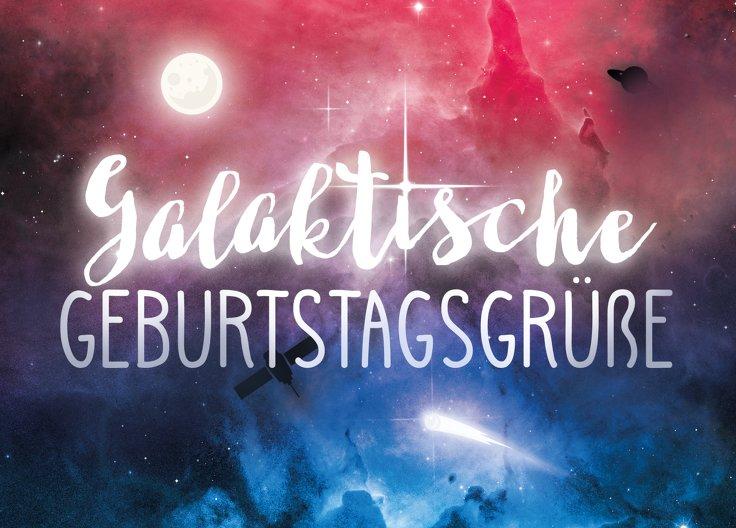 Ansicht 2 - Glückwunschkarte zum Geburtstag Galaxy