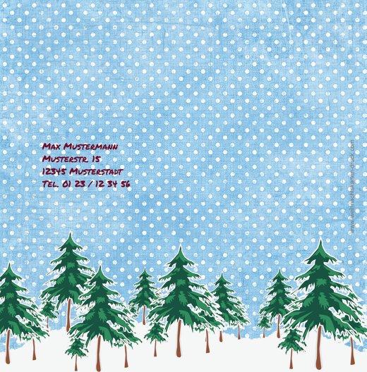 Ansicht 2 - Foto Grußkarte Schneewald