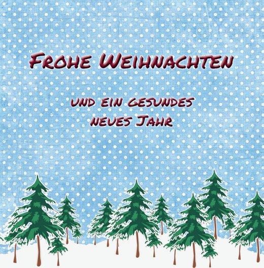 Ansicht 3 - Foto Grußkarte Schneewald
