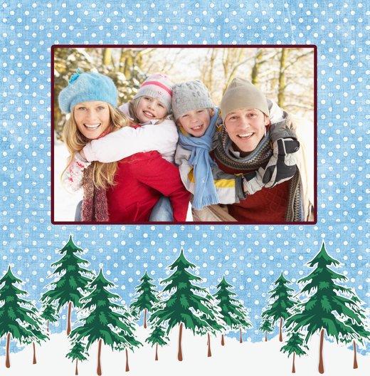 Ansicht 4 - Foto Grußkarte Schneewald