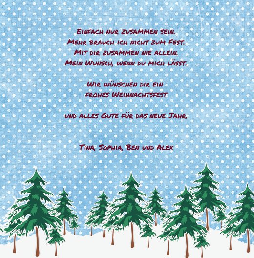Ansicht 5 - Foto Grußkarte Schneewald