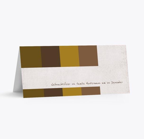 Tischkarte Farbklang